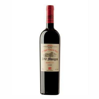 Vino tinto D.O. Rioja 200 Monges Reserva 2006
