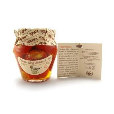 Pimientos cherry rellenos de foie Rosara